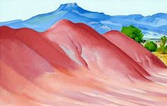 Georgia O'Keeffe Most Famous Paintings | Georgia O'Keeffe: Red Hills and Pedernal - 1936