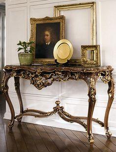 """""""Antique Louis XIV oak console table"""""""