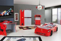 Cool idée pour la chambre de votre enfant avec le lit voiture