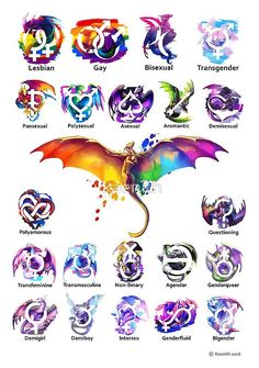 The lgbt+ dragons.g pansexual can also mean panromantic Printable Poster, Pansexual Pride, Vintage T-shirts, Lgbt Community, Gay Pride Tattoos, Equality Tattoos, Gay Tattoo, Gender Identities, Pinterest Marketing