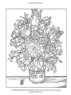 Color Your Own Great Flower Paintings (Dover Art Coloring Book): Marty Noble: 9780486433356: Amazon.com: Books