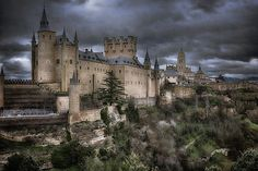 Inspiration  by Joan Carroll #castle #medieval #mysterious
