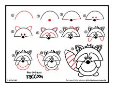 Here's a cute little guy, how to draw a raccoon! This one is easy, but still fun, even for those parents and teachers that like to draw along with their kids. Art Materials Pen, pencil, crayon, or marker Paper Watch How To Draw A Raccoon Are You A Teacher? Check out Miss Nelson's class raccoon …