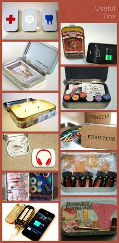 A Beautiful Little Life: ReUse Altoids Tins! Fun Crafts, Diy And Crafts, Arts And Crafts, Geek Crafts, Small Tins, Small Boxes, Mint Tins, Tin Art, Altered Tins