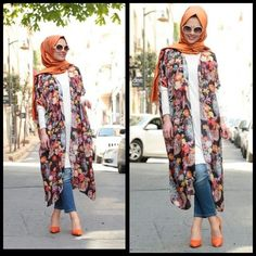 Needs more shaping, but I love the layers. Stylish Hijab, Hijab Style, Casual Hijab Outfit, Hijab Chic, Hijab Dress, Modest Outfits, Modest Fashion, Girl Fashion, Fashion Outfits
