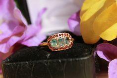 Antique Alexandrite & Garnet Ring in 14 K by SeekingVintageSoul, $399.00