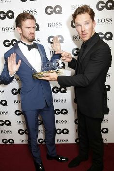Benedict Cumberbatch and Dan Stevens. I'll be the filling in that sandwich