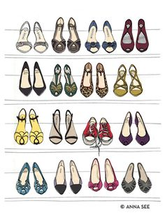 Designer Dream Shoe Closet Oversized Archival Fashion by annasee, $36.00