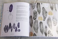 """potato stamping from """"Print Workshop."""""""