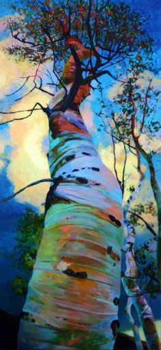 "Saatchi Online Artist: Ellen Dittebrandt; Acrylic, 2010, Painting ""Above my head ""  Love this - I have a more traditionally colored picture a lot like this that I bought in a 4 corners area of Montana while out West years back."