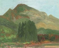 'Mountains, Scotland' by John Bellany (oil on canvas)