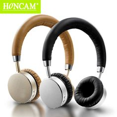 Honcam Bluetooth Stereo Headband Wireless Black/Brown Leather Wrapped Headset On-Ear Earphones For Mobilephone/PC/Xbox/PS3 Game Digital Guru Shop