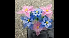 How to make nylon stocking flowers - Columbine