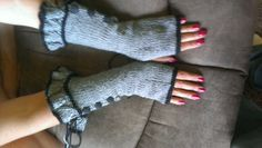 Finished gloves off with black buttons!!