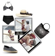 """Polkadot Swimwear"" by pati777 ❤ liked on Polyvore featuring Noah, Boohoo, Emporio Armani and Ralph Lauren"