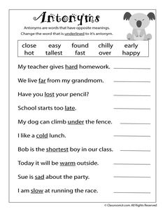 Middle School Fun Worksheets Excel Circle The Pronouns Worksheet For First Grade  Free To Print Pdf  Triangles Worksheet Ks2 with Basic Skills Worksheets Pdf Reading Worksheets Antonyms And Synonyms Antonymworksheet  Classroom Jr  Nd Grade Pronoun Worksheets For Grade 4 Excel
