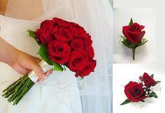Rose Wedding Flower Package 10 Piece