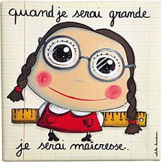 On sait, on sait… l'année n'est pas encore terminée ! Kids Up, Art For Kids, French Classroom, When I Grow Up, Kids Corner, Art Therapy, Girl Humor, Art School, Craft Gifts