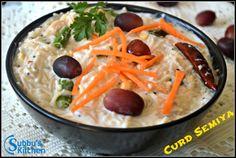 Curd Semiya (Thayir Semiya) / Yoghurt Vermicelli | Subbus Kitchen