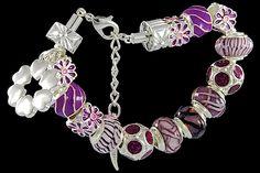 silver plated items: bracelet with lobster, enamel beads, glittering beads, six-hearts charm, locks. Five glass beads with 925 silver core. Pandora Like Bracelets, Cheap Fashion Jewelry, Jewelry Accessories, Jewelry Design, Fashion Jewellery Online, Italian Jewelry, Murano Glass Beads, Wholesale Jewelry, Glass Jewelry