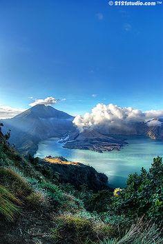 Mount Rinjani, Indonesia - active volcano