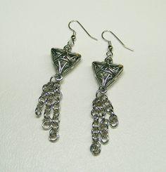 Long Dangle Chain Earrings Free Shipping by kasual2klassy on Etsy, $13.00