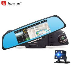 Junsun A700 Android Car Rearview Mirror GPS WIFI Dashcam Reverse Camera //Price: $116.58 & FREE Shipping //     #android