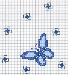 Embroidery butterfly stitches punto croce 28 ideas for 2019 Butterfly Stitches, Butterfly Cross Stitch, Cross Stitch Borders, Cross Stitch Alphabet, Cross Stitch Designs, Cross Stitching, Cross Stitch Embroidery, Embroidery Patterns, Hand Embroidery