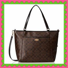 """Authentic Coach Logo Handbag  ✨% AUTHENTIC✨This is the classic logo handbag from Coach GORGEOUS  Very versatile Crossbody, shoulder & top handle bag Lightweight and very roomy✨ Length 15"""" Height 11"""" Width 5"""" with detachable adjustable long strap. Front and back outside pocket Yellow gold tone hardware Beautiful sturdy handbag NO TRADE  PRICE FIRM Coach Bags Totes"""