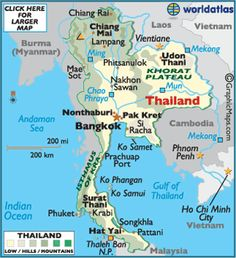 Image result for thailand map
