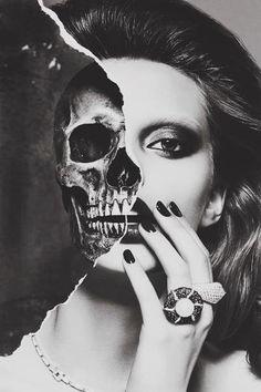 Woman half skull - Skullspiration.com