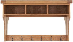 The Hemsby Oak hall shelf unit would be a stunning addition to any hallway.  It features 3 storage spaces, 6 coat hooks and a large mirror.