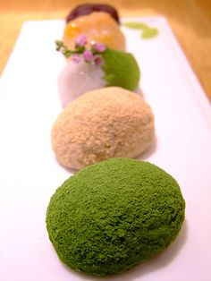 five types of Edo-style bean cake
