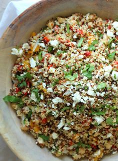 Low FODMAP Recipe and Gluten Free Recipe - Summer quinoa salad http://www.ibssano.com/low_fodmap_recipe_summer_quinoa_salad.html