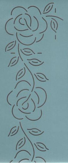 "Rose Border 3"" - The Stencil Company"