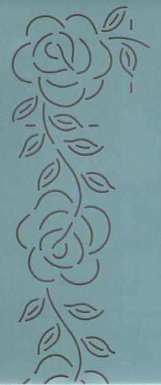 """Rose Border 3"""" - The Stencil Company"""