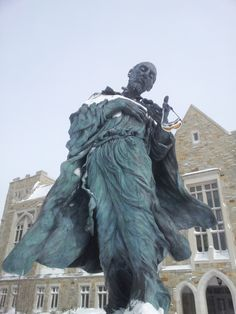Snow covered St. Ignatius. Blizzard 2013 #BostonCollege