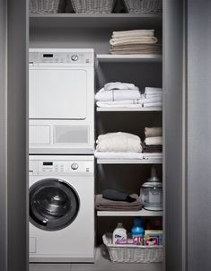 Do you want make small laundry room look like functional for home and apartement? Laundry rooms are often overlooked because you work too much at home and apartement. Here our team gave 30 Laundry Room Design Ideas. Small Laundry Rooms, Laundry Closet, Laundry Storage, Laundry Room Design, Laundry In Bathroom, Small Bathroom, Bathroom Interior, Interior Design Living Room, Living Room Designs