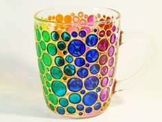 Stained Glass Bubbles Mug