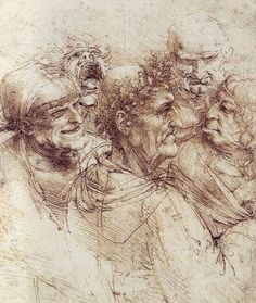 Below is a collection of sketches by Leonardo Da Vinci, he is known as one of the greatest painters of all time. His sketches of anatomy are astonishing and simply the peak of sketching perfection. Drawing Faces, Life Drawing, Figure Drawing, Painting & Drawing, Giuseppe Arcimboldo, High Renaissance, Michelangelo, Art History, Artwork