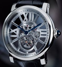 Rotonde de Cartier Flying Tourbillon Skeleton Watch