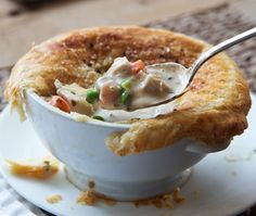 French Chicken Pot Pies Recipe ~ from the Barefoot Contessa's Ina Garten.
