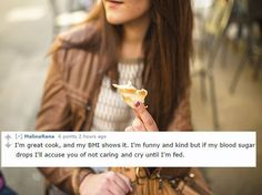 Brutally Honest Dating Profiles; except for the great cook part, that probably describes me.