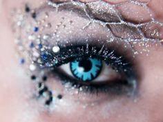 2014 colorful glitter frozen eye make for Halloween - sequin, crystal, disney # # Halloween # Crazy Eyeshadow, Crazy Eye Makeup, Eyeshadow Designs, Eye Makeup Designs, Makeup You Should Have, Frozen Makeup, Wonderland, Photoshoot Makeup, Photoshoot Ideas