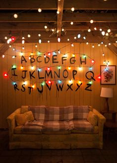 So, season 2 of Stranger Things was released Friday, and Chip and I planned for a marathon viewing party to celebrate the second season. Because we loved the first season … wallpaper ideas How To Throw A Stranger Things Viewing Party - Lay Baby Lay Netflix Stranger Things, Stranger Things Tumblr, Stranger Things Aesthetic, Stranger Things Wall, Stranger Things Alphabet Wall, Tumblr Wallpaper, View Wallpaper, Vogue Wallpaper, Kawaii Wallpaper