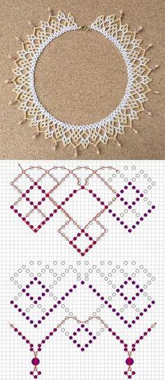seed bead tutorials for beginners Beaded Necklace Patterns, Seed Bead Patterns, Weaving Patterns, Seed Bead Jewelry, Bead Jewellery, Seed Beads, Beaded Crafts, Beading Tutorials, Loom Beading
