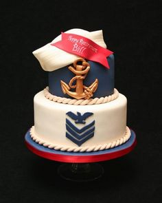 Navy Retirement By MacsMom on CakeCentral.com