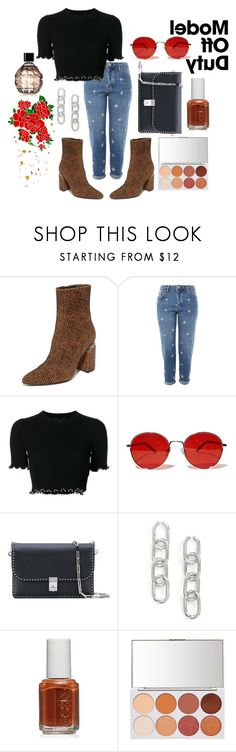 """*5"" by pranisha on Polyvore featuring Alexander Wang, Topshop, Fantas-Eyes, Valentino, Essie and Jimmy Choo"