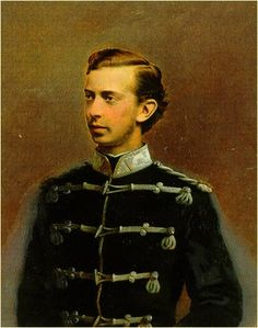 Nikolay Alexandrovich Romanov, the elder brother to Alexander III; the groom to Dagmar, future Maria Feodorovna and wife of Alexander III.By Lutovchenko, 1865. The portrait is performed close to his death date at the age of 22 from meningitis. His crown and his bride were granted to Alexander III, his younger and beloved brother. Before his death Nikolay managed himself to betroth his brother and ex-bride; they named their first son as Nikolay who then became Nikolay II The Last Romanov…