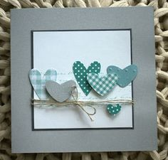 card heart hearts many layered hearts - square card, blue green colors, karte hertz und seele Pusteblume Valentine Love Cards, Valentines, Cute Cards, Diy Cards, Tarjetas Diy, Karten Diy, Square Card, Heart Cards, Card Sketches